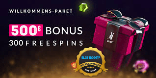 Welcome Bonus 500€ + 300 Free Spins