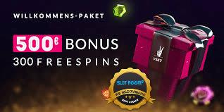 VBET Welcome Bonus 500€ 300 Free Spins - Welcome Bonus 500€ + 300 Free Spins