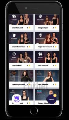 mobile live caino