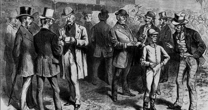 Free betting on the streets of England in the early 19th century