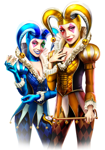 Twin Harlequin Lady Free Slot Review - Twin Harlequin Free Play Slot Review