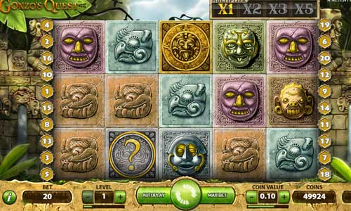 gonzos quest slot screen - Gonzos Quest Slot Review