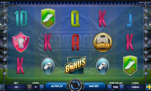 football champions cup slot screen - Football Champions Cup Slot Review