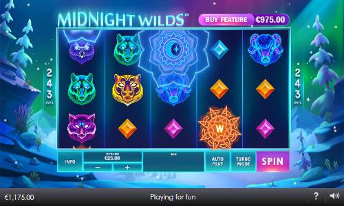 midnight wilds slot screen - Midnight Wilds Slot Review