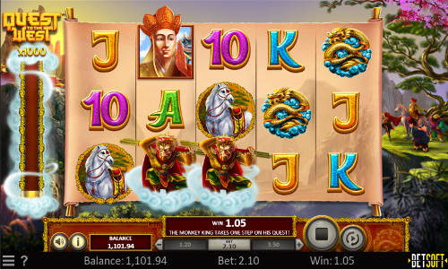 quest to the west slot screen - Quest to the West Slot Review