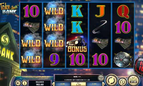 take the bank slot screen - TAKE THE BANK Slot Review