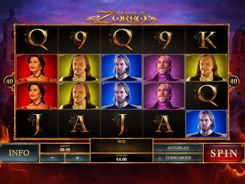 the mask of zorro slot screen - the Mask of Zorro Slot Review