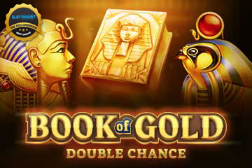 book of gold double chance slot logo - Book of Gold Double Chance Slot Review