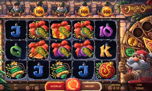 jingle spin slot screen - Jingle Spin Slot Review