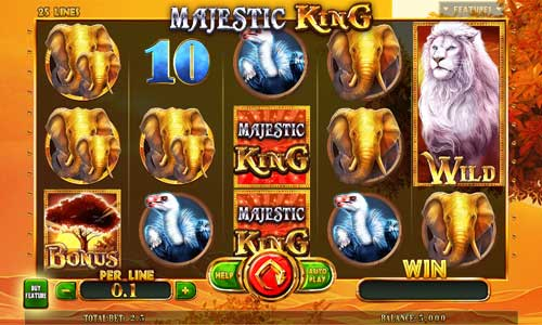 majestic king expanded edition slot screen - Majestic King Expanded Edition Slot Review