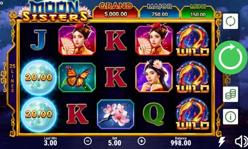 moon sisters hold and win slot screen - Moon Sisters Slot Review