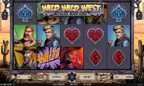 wild wild west slot screen - Wild Wild West The Great Train Heist Slot Review