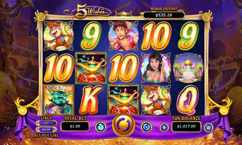 5 wishes slot screen - 5 Wishes Slot Review