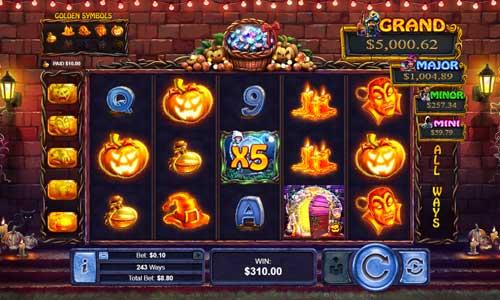halloween treasures slot screen - Halloween Treasures Slot Review