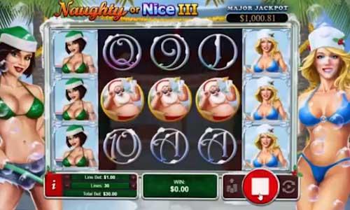 naughty or nice 3 slot screen - Naughty Or Nice 3 Slot Review