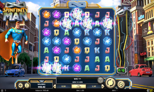 spinfinity man slot screen - Spinfinity Man Slot Review