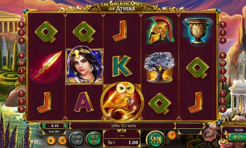the golden owl of athena slot screen