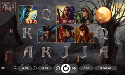 the wolfs bane slot screen - The Wolfs Bane Slot Review