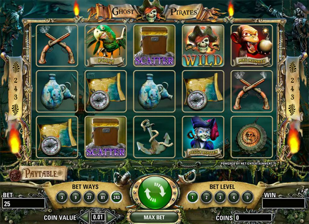 ghost pirates ss - Ghost Pirates Slot Game