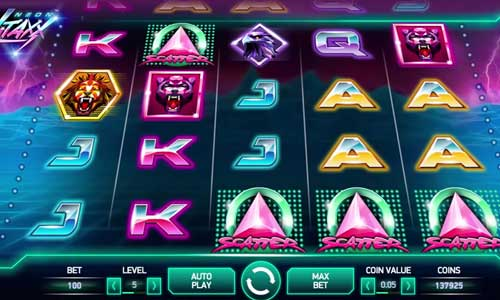 neon staxx slot screen