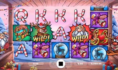santa vs rudolf slot screen