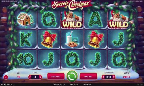secrets of christmas slot screen