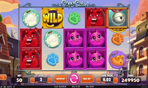 copy cats slot screen - Copy Cats Slot Review