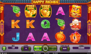 happy riches slot screen