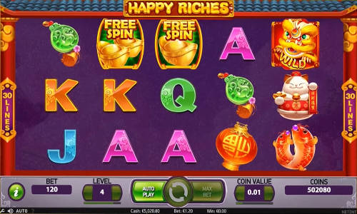 happy riches slot screen 300x180 - Happy Riches Slot Review