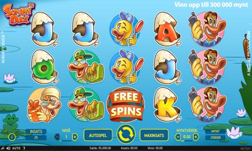 scruffy duck slot screen