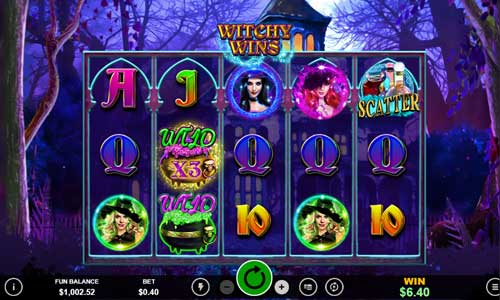 witchy wins slot screen