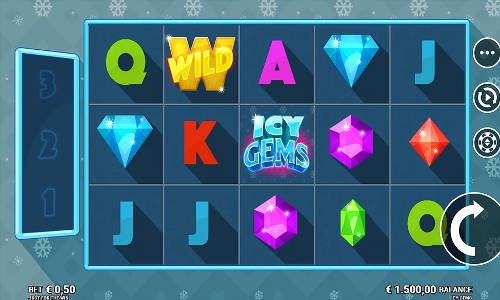 icy gems slot screen