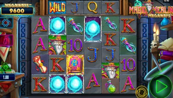 magic merlin megaways slot screen