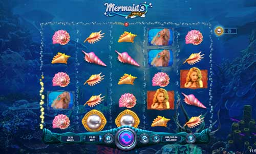 mermaids pearls slot screen