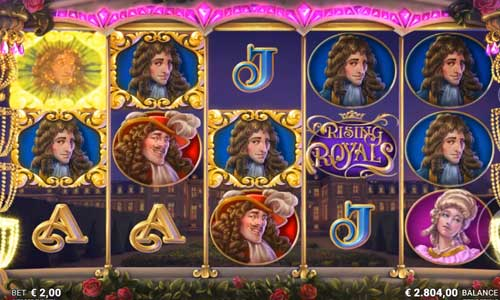 rising royals slot screen
