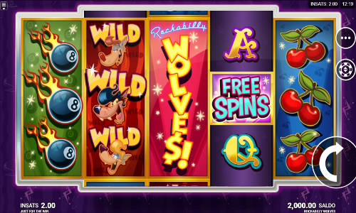 rockabilly wolves slot screen - Rockabilly Wolves Slot Game