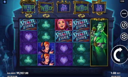 spectre estate slot screen - Spectre Estate Slot Game