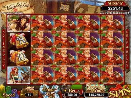 the naughty list slot screen - The Naughty List Slot Game