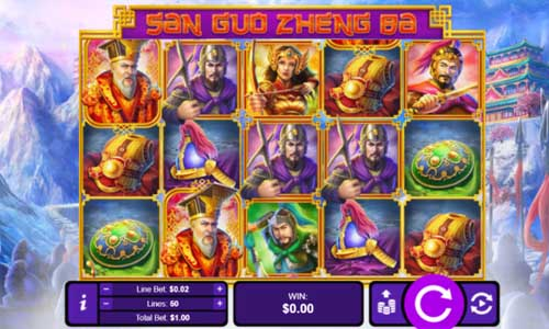 three kingdom wars slot screen