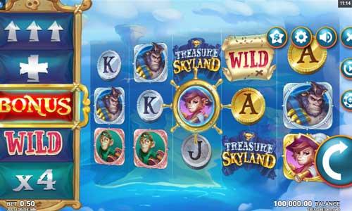 treasure skyland slot screen