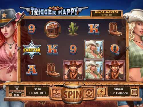 trigger happy slot screen