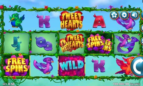 tweethearts slot screen - Tweethearts Slot Review
