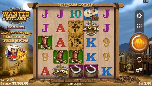wanted outlaws slot screen - Wanted Outlaws Slot Review