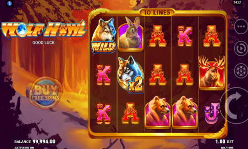 wolf howl slot screen - Wolf Howl Slot Game
