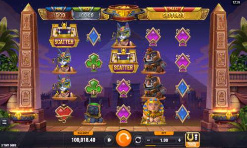 3 tiny gods slot screen