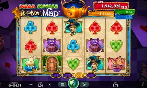 absolootly mad mega moolah slot screen - Absolootly Mad Mega Moolah Slot Review