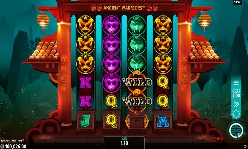 ancient warriors slot screen