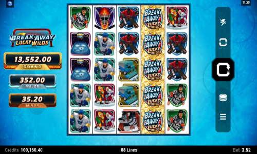 break away lucky wilds slot screen