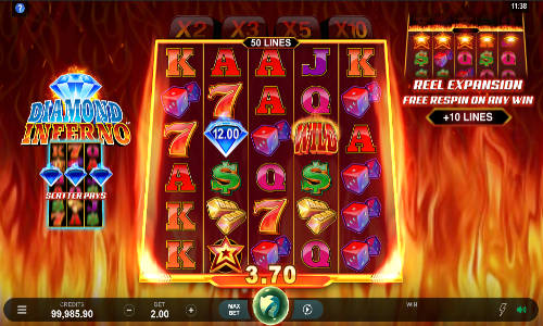 diamond inferno slot screen - Diamond Inferno Slot Game