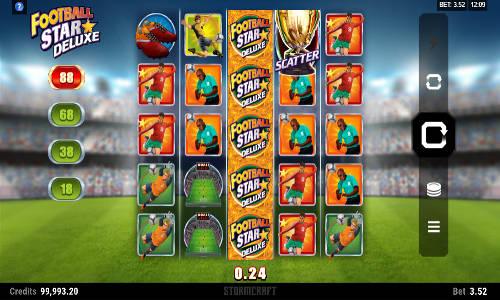 football star deluxe slot screen - Football Star Deluxe Slot Game
